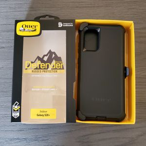 Samsung Galaxy S20+(Plus) Otterbox Defender series Case with belt clip holster black for Sale in Santa Clarita, CA
