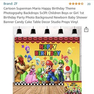 Super Mario Banner 5x3ft for Sale in Silver Spring, MD