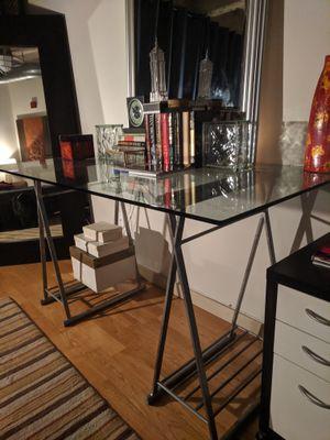 Art Deco Glass Top Desk for Sale in Houston, TX