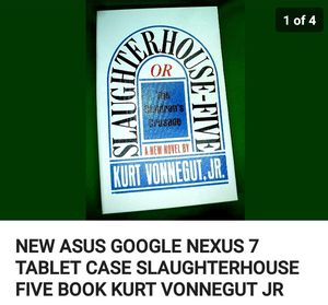 New slaughterhouse asus google nexus 7 tablet case book for Sale in Tullahoma, TN
