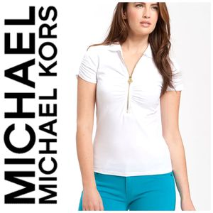 Michael Michael Kors Zip Short Sleeve Polo Nwt M for Sale in Fond du Lac, WI