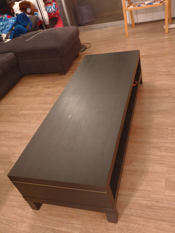 Long coffee table, black, brand new condition
