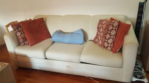 Pull out sofa, matching chair, and leather couch for Sale in Sayreville, NJ