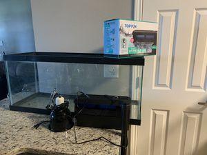 30 gallon aquarium+ filter&heating lamp for Sale in Irving, TX