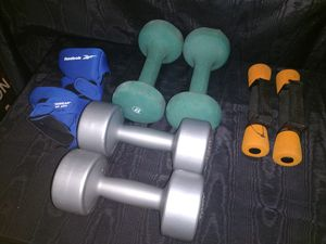 4 sets of weights from 1 lb to 8 1b for Sale in Dallas, TX