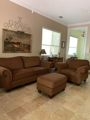 Broyhill Sofa, Chair and Ottoman for Sale in Hemet, CA