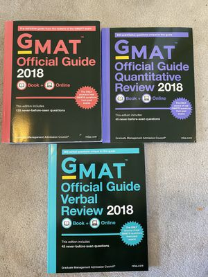 Unused GMAT books - 2018 for Sale in San Francisco, CA