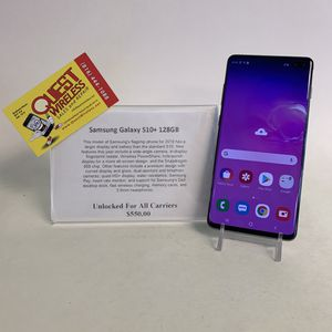 Samsung Galaxy S10 Plus 128GB Unlocked for Sale in Kansas City, MO