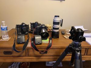 Canon pro lenses, two film one digital bodies for Sale in Elgin, IL