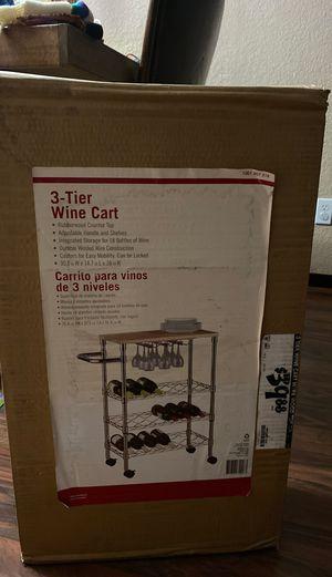3 Tier wine cart for Sale in Henderson, NV