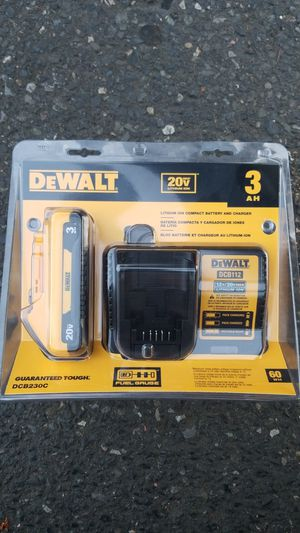 DEWALT 20-Volt Max 3 Amp-Hour Lithium Power Tool Battery Kit (Charger Included) for Sale in Clackamas, OR