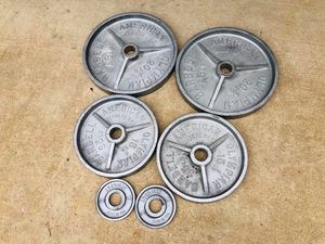 Olympic Plates - Vintage - American Plates - Deep Dish - Work Out - Gym Equipment for Sale in Downers Grove, IL
