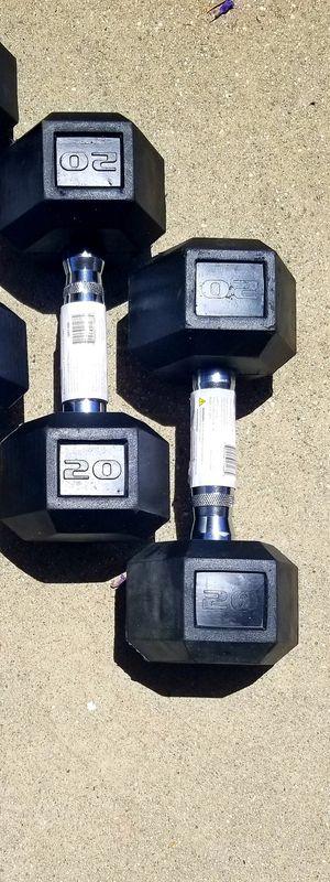 New 20 Pound dumbbells/ 20lb dumbbell Set for Sale in Pomona, CA