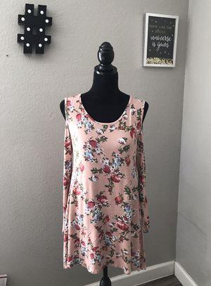 Popana Women's Tunic Dress Open Shoulders Long Sleeves Sz medium for Sale in Las Vegas, NV