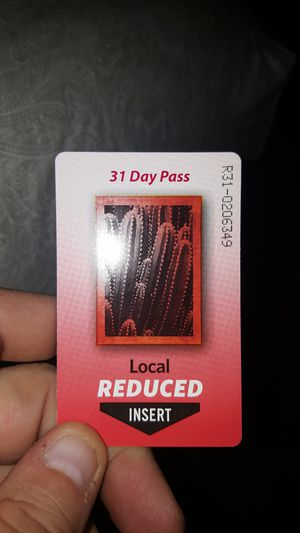 Reduced fare bus pass for Sale in Phoenix, AZ