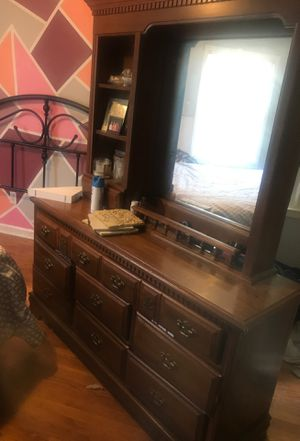 8 drawer dresser with mirror for Sale in Winston-Salem, NC