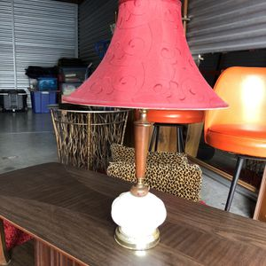 Small Vintage Milk Glass Lamp W/ Shade for Sale in Punta Gorda, FL