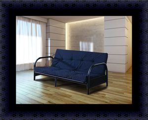 Black futon frame with mattress for Sale in Washington, DC