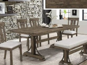 Quincy Grayish Brown Rectangular Dining Set by Crown Mark for Sale in Arlington,  VA
