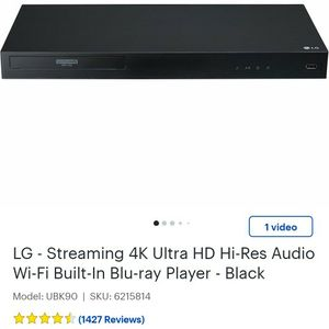Lg 4k Dvd Player for Sale in Kent, WA