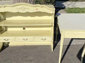 Free In Northridge! Couch, Vintate Dresser, Toy Car, And Lamp, Corner Desk! for Sale in Los Angeles,  CA