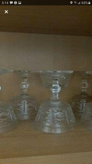 Antique crystal wine glass set. (6 piece set) for Sale in Santa Monica, CA