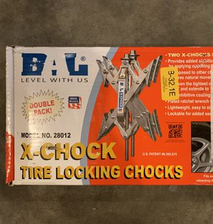 BAL X-Chock Tire locking chocks travel trailer Double Pack for Sale in Puyallup, WA