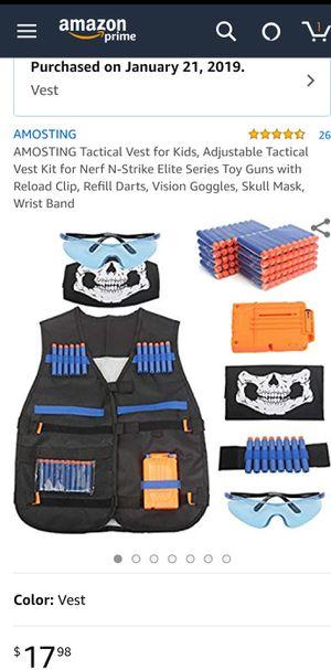 Tactical Vest for Kids, Adjustable Tactical Vest Kit for Nerf N-Strike for Sale in Brooklyn, NY