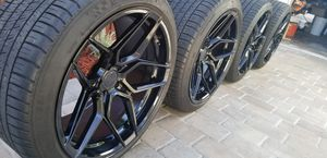 """Like New Rohana RFX11 Gloss Black 20"""" Staggered Wheels With Michelin Tires for Sale in Fort Lauderdale, FL"""