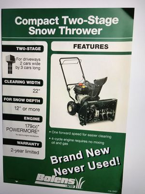 Snow Blower for Sale for Sale in Indianapolis, IN