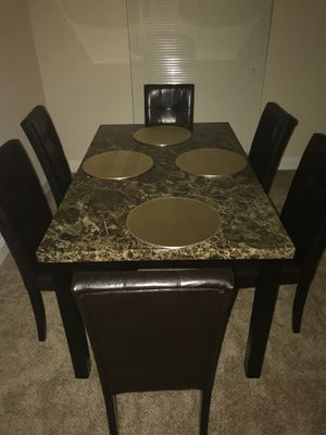 Brand New 7 Piece Faux Marble Dining Set for Sale in Silver Spring, MD