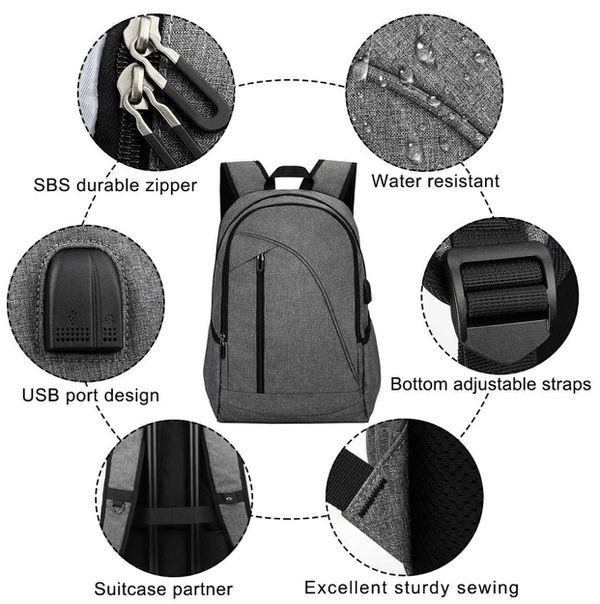 Laptop Backpack with charging port