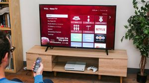 The 65 inch TCL 4 series Roku TV for Sale in Culver City, CA