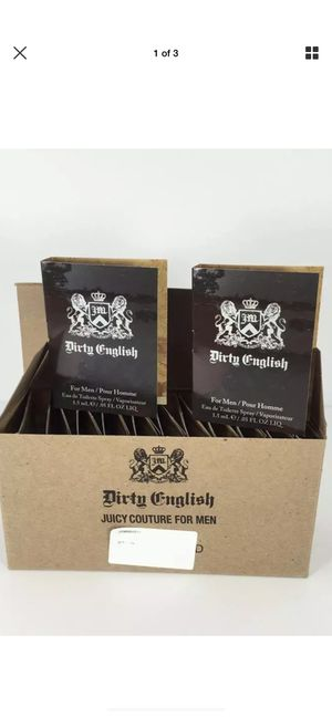 JUICY COUTURE ! DIRTY ENGLISH VIALS for MEN 100% GENUINE FRAGRANCE for Sale in Buffalo, NY
