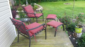 4 piece lounging set outdoor furniture with cushions for Sale in Montgomery, NY
