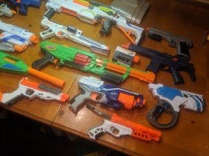 Nerf gun lot $70.00 14 nerf guns for Sale in Laurel, DE