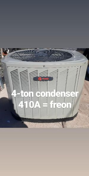 4 ton Trane condenser unit good condition the take of the freon is for410A for Sale in Grand Prairie, TX