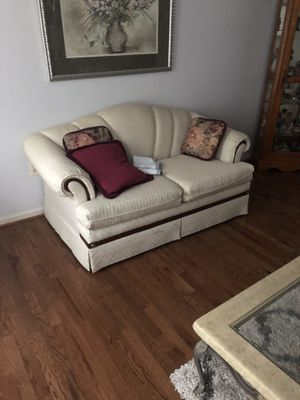 Cream loveseat and couch set must go 275 both for Sale in Severn, MD