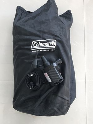 Coleman Queen Double High Air Mattress with Pump and bag for Sale in Miami, FL