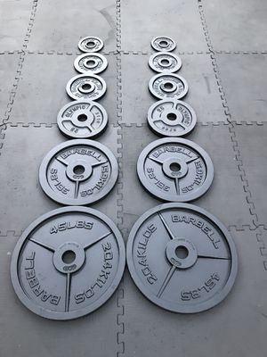 Olympic weights set For $170 Firm!!! for Sale in Burbank, CA