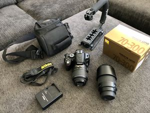 NIKON D5100 DSLR CAMERA KIT EXTRA LENS INCLUDED for Sale in South Gate, CA