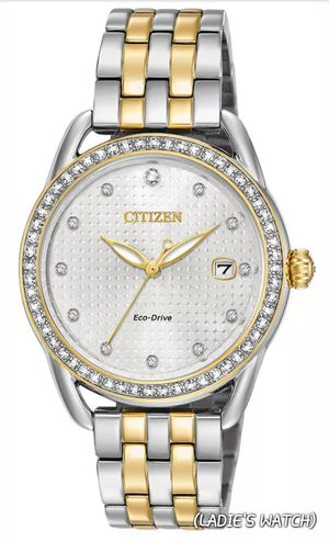 """""""🚺 👩 LADIE'S BRAND NEW REAL NICE FANCY CITIZEN CRYSTAL & TWO TONE-COLOR ECO-DRIVE WATCH."""" for Sale in Hazard, CA"""