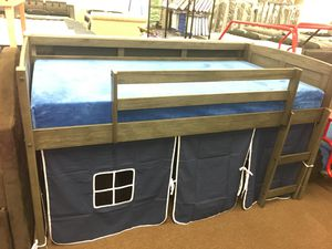 Low loft bed louvre is /blue tent kit for Sale in Victoria, TX