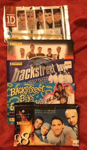 Backstreet Boys/ 1D/ 98 Degrees Photo Cards for Sale in Webster Groves, MO