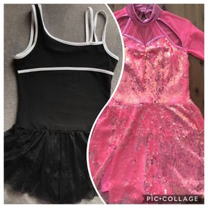 Two Girls Disco Dance Gymnasts PERFORMANCE Costume TUNIC DRESSES Girls Size L 10/12 for Sale in Alexandria, VA