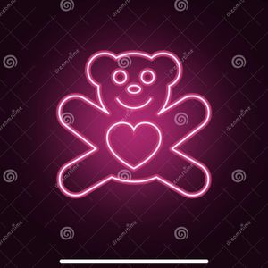 Valentines Neon Teddy Bear for Sale in Hallandale Beach, FL