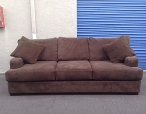 BROWN SOFA WITH A QUEEN PULL-OUT BED for Sale in El Cajon, CA