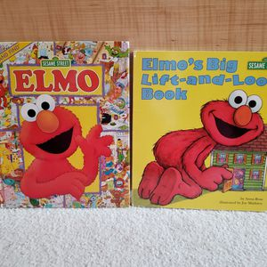 $5 for Set - Elmo Look and Find and Elmo's Big Lift-and-Look Book for Sale in St. Petersburg, FL