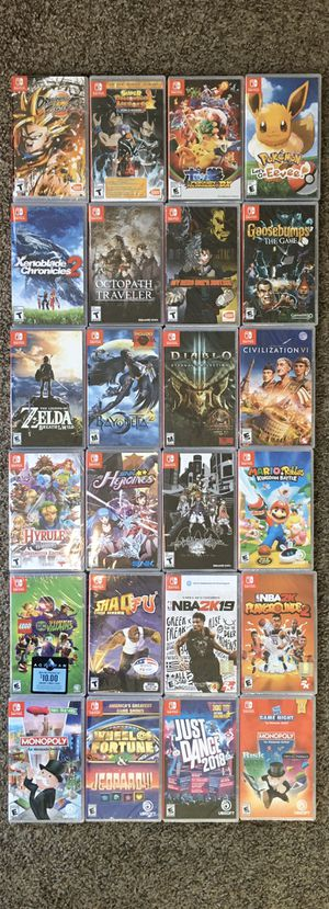 NINTENDO SWITCH ($40 each one)New Games Still sealed.(No trades) Nuevos for Sale in Los Angeles, CA