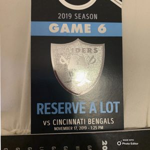 Raiders vs Bengals for Sale in Manteca, CA